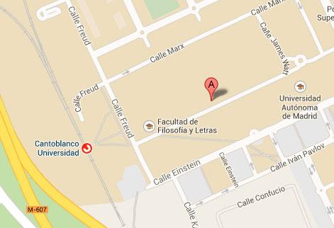 Ubicación del IUEM en la Universidad Autónoma de Madrid.
